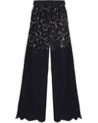 Goen.J - Corded Lace Wide-leg Pants - Lyst
