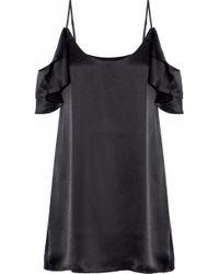 Cami NYC - Samantha Cold-shoulder Ruffled Silk-satin Mini Dress - Lyst
