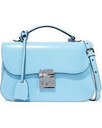 45f9f177aecb Lyst - Dolce   Gabbana Woman Sicily Pebbled-leather Shoulder Bag Sky ...