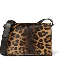 Victoria Beckham - Two-tone Canvas And Leather Shoulder Bag - Lyst