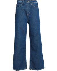 M.i.h Jeans - Distressed High-rise Wide-leg Jeans - Lyst
