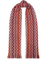 Missoni - Fringed Crochet Wool-blend Scarf - Lyst