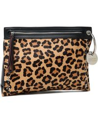 Marc By Marc Jacobs - Embellished Leopard-print Calf Hair And Leather Pouch - Lyst