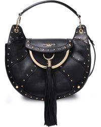 3e0e9e402ea9b0 Gucci Animalier Tasseled Textured-leather Shoulder Bag in Brown - Lyst