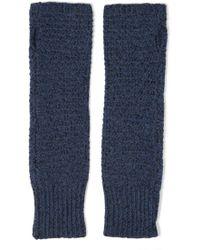 Duffy - Knitted Fingerless Gloves Storm Blue - Lyst