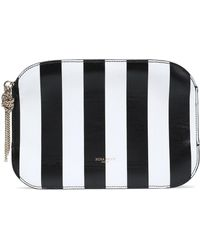 Nina Ricci - Elide Striped Leather Pouch - Lyst