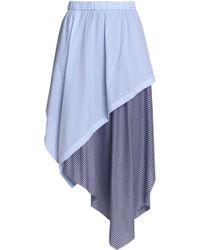 Opening Ceremony - Asymmetric Striped Cotton-blend Midi Skirt - Lyst