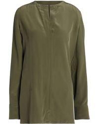 Marni - Silk Blouse Army Green - Lyst