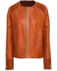 Yves Salomon - Woman Rouille Reversible Shearling Jacket Copper - Lyst
