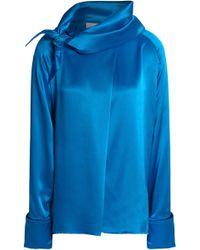 Marques'Almeida - Knotted Silk-satin Top - Lyst