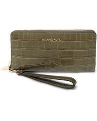 MICHAEL Michael Kors - Croc-effect Leather Wallet - Lyst