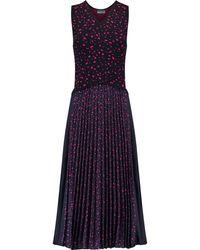 Noir Sachin & Babi - Edythe Printed Chiffon And Stretch-knit Midi Dress - Lyst