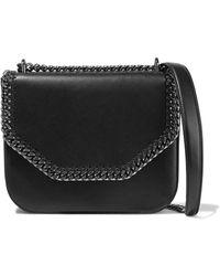 Stella McCartney - Falabella Box Chain-trimmed Faux Leather Shoulder Bag - Lyst