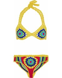 Moschino - Crocheted Cotton Triangle Bikini - Lyst