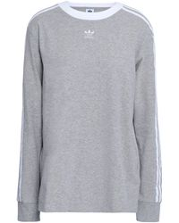 adidas Originals Embroidered Mélange Cotton-blend Jersey Top Stone