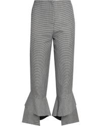 Nicholas - Houndstooth Tweed Kick-flare Trousers - Lyst