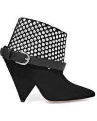 Isabel Marant | Otoway Studded Suede Ankle Boots | Lyst