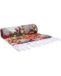 Camilla - Woman Printed Cotton-terry Beach Towel Multicolour - Lyst