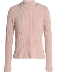 Splendid - Sylvie Cutout Ribbed-knit Sweater - Lyst