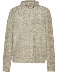 Tomas Maier - Metallic Stretch-jersey Turtleneck Top - Lyst