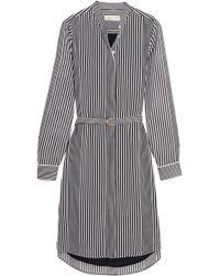 MICHAEL Michael Kors - Corsican Striped Chiffon Shirt Dress - Lyst