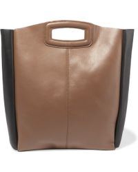 Maje | Two-tone Leather Tote | Lyst