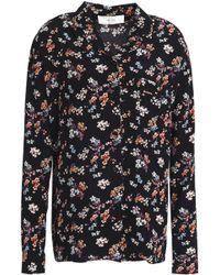 Vanessa Bruno Athé - Floral-print Crepe De Chine Shirt - Lyst