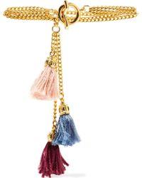 Ben-Amun - Gold-tone Tassel Bracelet - Lyst