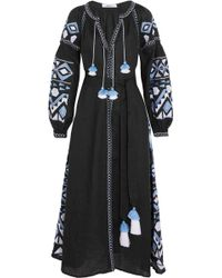 MARCH11 - Kilim Embroidered Linen Maxi Dress - Lyst