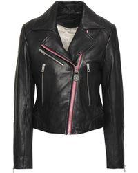Rag & Bone - Woman Griffin Leather Biker Jacket Black - Lyst