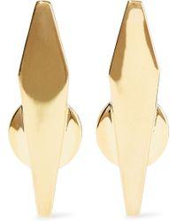 Noir Jewelry - Break The Mould 14-karat Gold-plated Earrings Gold - Lyst