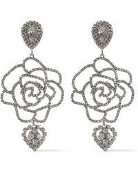 DANNIJO Silver-tone Crystal Necklace Silver