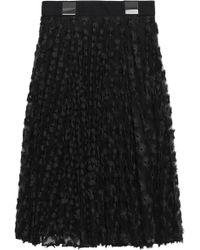 Carven - Fil Coupé Tulle Skirt - Lyst