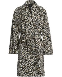 Maje - Guillaume Leopard-print Cotton-blend Trench Coat Animal Print - Lyst