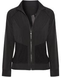 Purity Active - Woman Mesh-trimmed Scuba Jacket Black - Lyst