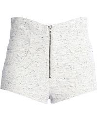 Isabel Marant - Bouclé Cotton-tweed Shorts Light Grey - Lyst