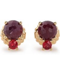 Ippolita - Woman Gold-tone Stone Earrings Claret - Lyst