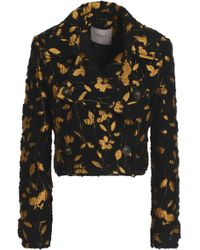 Lanvin - Metallic Floral-jacquard Tweed Jacket - Lyst