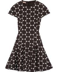 Michael Kors - Polka-dot Cotton And Silk-blend Matelassé Mini Dress - Lyst