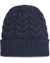 Jil Sander - Cable-knit Wool Beanie - Lyst