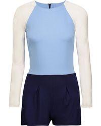 Kain - Lena Color-block Stretch-jersey Playsuit - Lyst