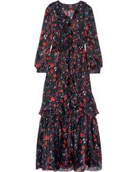 Noir Sachin & Babi - Camila Ruffled Silk-chiffon Gown - Lyst