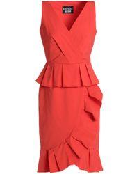 Boutique Moschino - Ruffle-trimmed Cotton-poplin Dress - Lyst