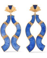 Tory Burch - Gold-tone Resin Earrings - Lyst
