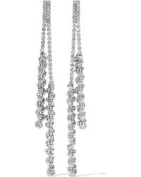 Kenneth Jay Lane - Silver-tone Crystal Earrings - Lyst