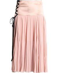 Cinq À Sept   Satin-paneled Pleated Silk-georgette Midi Skirt   Lyst