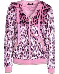 Roberto Cavalli - Leopard-print Chenille Hooded Jacket - Lyst