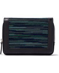 M Missoni - Jacquard Knit-paneled Leather Shoulder Bag - Lyst