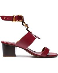 Chloé - Kingsley Buckled Leather Sandals - Lyst
