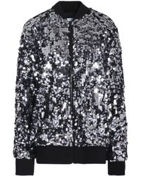 MSGM - Sequined Mesh Bomber Jacket - Lyst